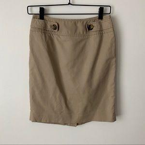 Loft Ann Taylor khakis skirt women's 2P